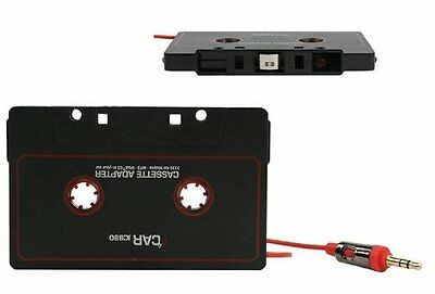 NEW CAR AUDIO TAPE CASSETTE ADAPTER IPHONE IPOD MP3 CD RADIO NANO 3.5mm JACK AUX