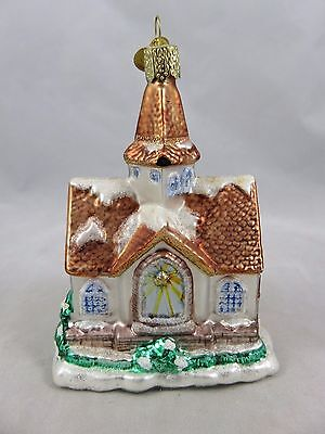 Old World Christmas - Sparkling Cathedral - Glass Christmas Figurine Ornament