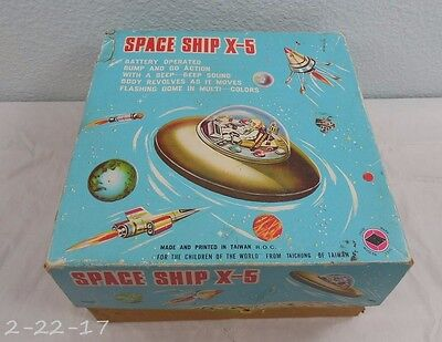 Vintage Space Ship X-5 Box with Insert