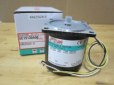 Sesame Induction Motor 4Rk25Gn-S 3Ph 220V
