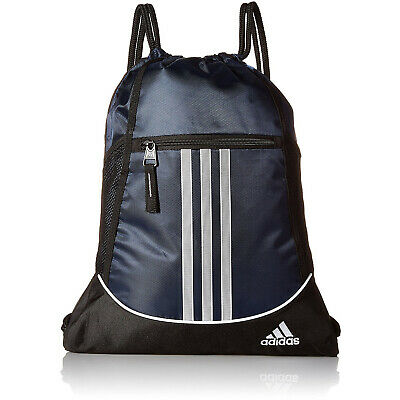 Adidas Drawstring Backpack Sackpack Sport Gym Bag School Travel Sack Pack  Blue 518f68f6b4362
