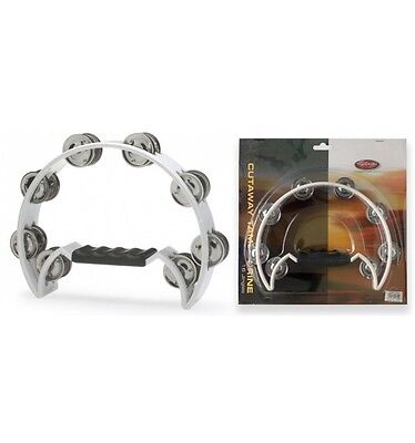 Tambourin blanc Demi lune avec cymbalettes Stagg TAB-2 WH