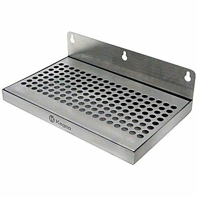 """Beer Food Service Equipment & Supplies Drip Tray 10"""" Stainless Steel Wall Mount"""