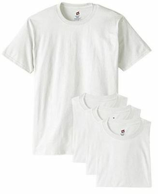 Hanes Men's ComfortSoft White Crew Neck Tagless T-Shirt 4 Pack New in Package