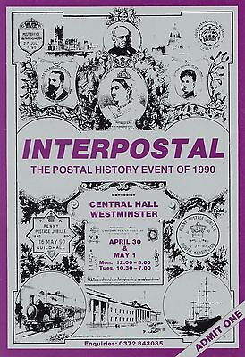 (99561) Interpostal Post History Exposition Postkarte stil Aufnahme Ticket 1990