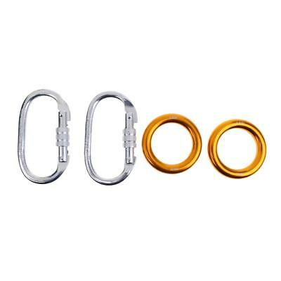 25KN Climbing Carabiner & 22KN Rappel Ring Bail-outs Outdoor Rescue Arborist