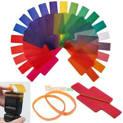 20pcs/Set Flash Speedlite Color Gels Filters for Canon Nikon Yongnuo DSLR Camera