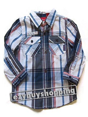 Sprout MYER Blue Winter collared Top Cotton Boys Shirt 0