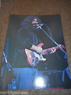 "Jerry Garcia - Original 1973 Rising Signs Large Poster Card - 8.5"" X 11"""