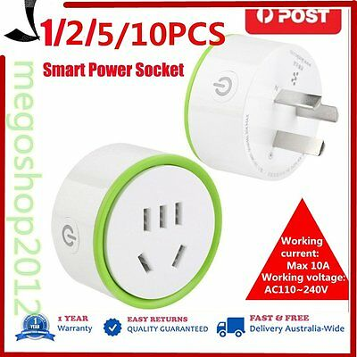 White Mini Smart Wifi Plug Remote Control Socket Power Supply Home Safety AU