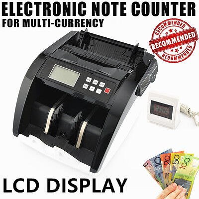 Money Bill Counter Bank Checker Machine Cash Counting Fake Detector UV 3 LCD