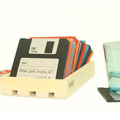 6pcs Floppy Disk Cup Mat Coasters Drink Coasters Home Decor Bar Accessory KIT CN