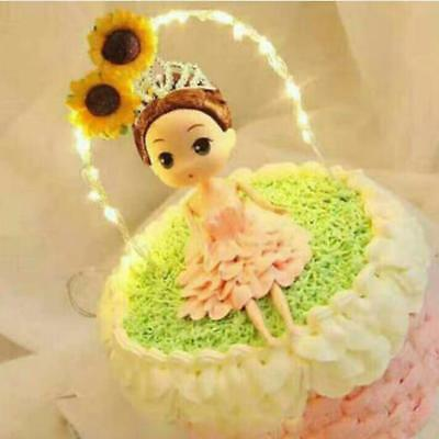 Cake Topper for Weddings with LED Light Fairy String Lights Wedding party
