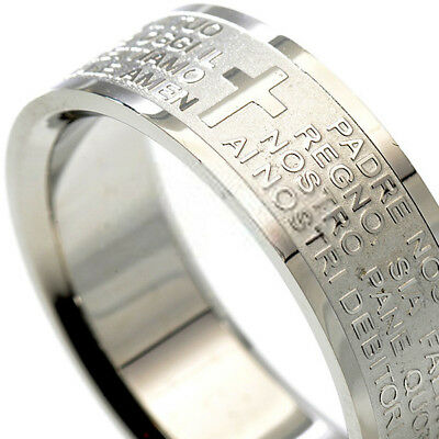 Band Padre Prayer Italian Ring Our Religione Man Woman AVE MARIA dbp