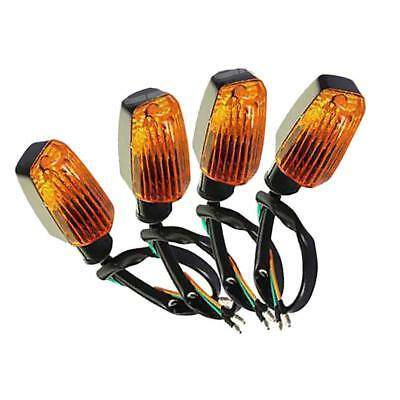 4pcs Motorcycle Front and Rear LED Turn Light Lamp Indicator Amber