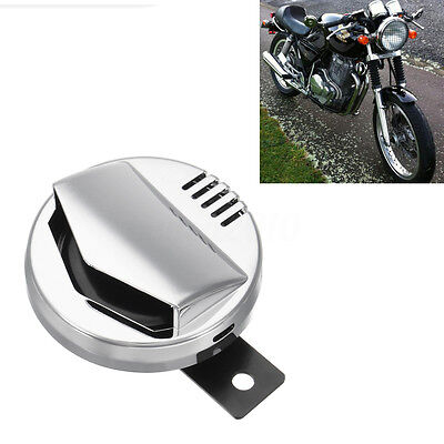 Motorcycle Electric Horn Super Loud 110db 94mm 12V Cafe Racer Retro For Harley