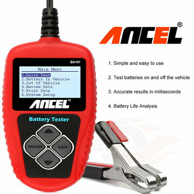 Ancel BA101 Automotive Load Battery Tester Digital Analyzer Bad Cell Test Tool