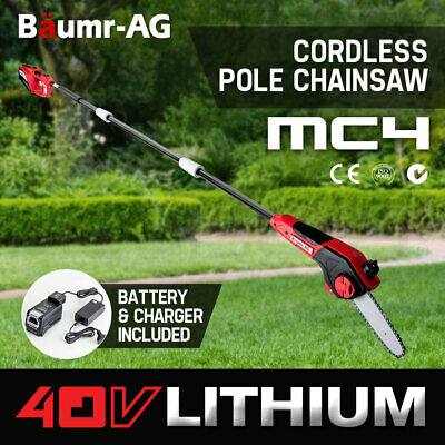 NEW Baumr-AG 40V Pole Chainsaw Cordless Electric Lithium Saw Tool Garden Pruner