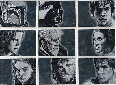 Star Wars Galaxy Series 4 - Complete Silver Chase Card Set (1-15) @ Near Mint
