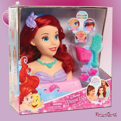 Disney Princess Ariel Bath Styling Head with Colour Changing Hair & Accessories