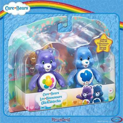 Care Bears Articulated Two Figures Twin Pack - Grumpy & Harmony - Blue & Purple