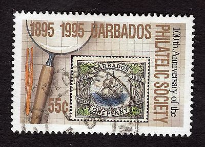 1996 Barbados 55c Cent Philatelic Society SG1067 FINE USED R32765