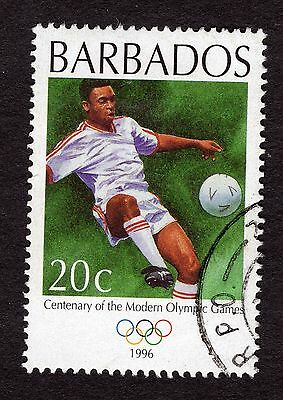 1996 Barbados 20c Cent Modern Olympic Games Football SG1070 GOOD USED R32772