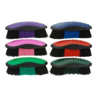 Tough-1 Great Grip Stiff Brush for Horse Grooming - 6 Pack Traditional