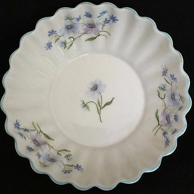 Vintage Shelley Blue Rock Fine Bone China Nut Candy Pin Dish 13591 C.1938-66