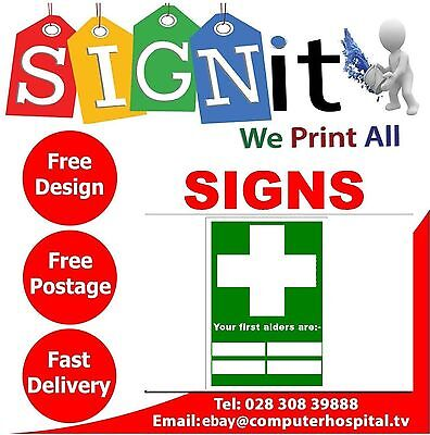 Your First Aiders Are Sticker, Correx Plastic Or Aluminium Sign - Z008