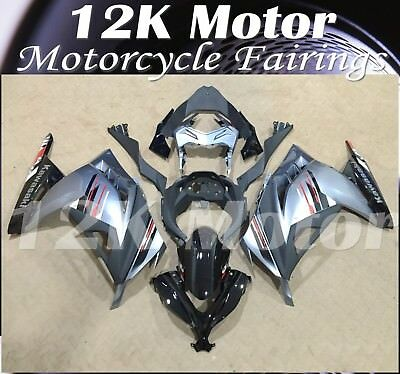 KAWASAKI NINJA300 Fairings Set Bodywork Kit 2013 2014 2015 2016 Plastic Silver82