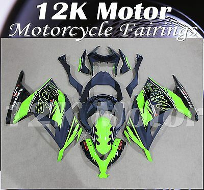 KAWASAKI NINJA300 Fairings Set Bodywork Kit 2013 2014 2015 2016 Plastic Green 91