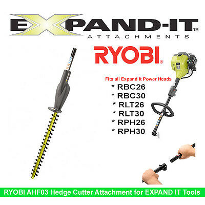 Ryobi AHF03 Hedge Trimmer Attachment for Expand It Power Head RPH RBC RTL