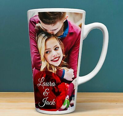 PERSONALISED Custom YOUR Photo on a Large LATTE Mug 17oz 483ml Logo Print Gift