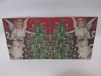 Vintage Angel Blocks That Change To Different Scenes & Angels Tree Star Holiday