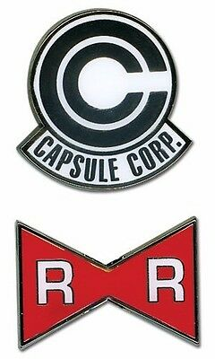 Dragon Ball Z Capsule Corp And Red Ribbon Army Lapel Pin Set