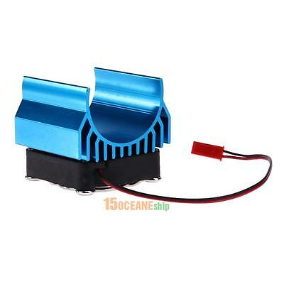 5V Aluminium Heat Sink With Fan Cooling Head for 1/10 RC Car 540/550/3650 Motor