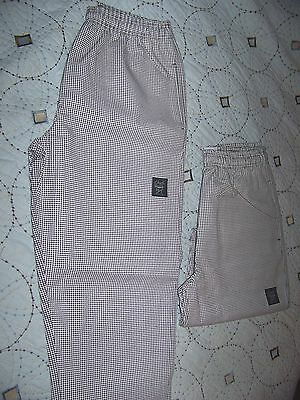 Two Pairs Chef 24/7 Revival Pants size L Houndstooth pattern excellent condition