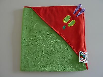 Eric Carle HUNGRY CATERPILLAR Hooded Baby Towel NWT