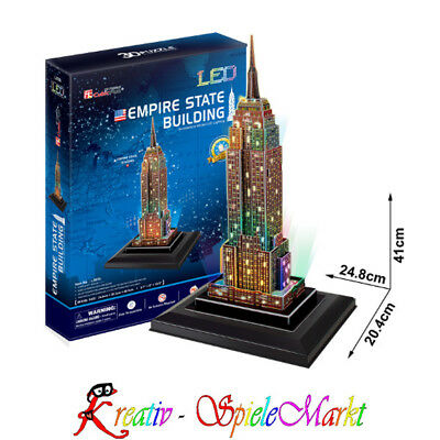 Cubic Fun - 3D Puzzle Empire State Building New York USA mit LED Beleuchtung