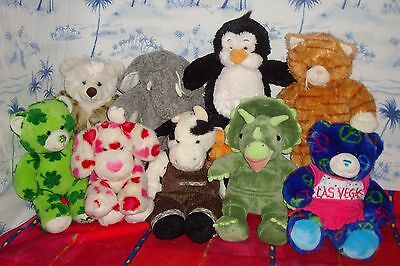 Build A Bear BAB Lot of 9 Rare Retired Stuffed Animal Plushies