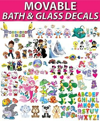 Bath Time Fun Shower Bathroom Ceramic Glass Tile Reusable Stickers Decals