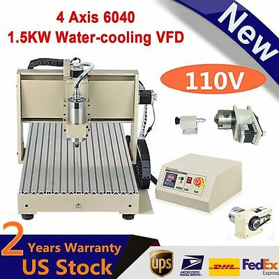 3/4 Axis 3020 3040 6040 CNC Router Engraver Engraving Milling Drilling Machine