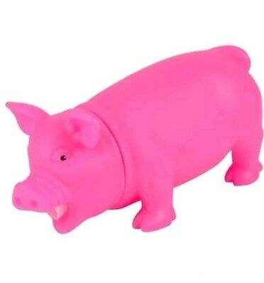 Squeeze Me Piggie by Animolds Fun Grunting Farm Pig Toy Dogs Love Them Too! New