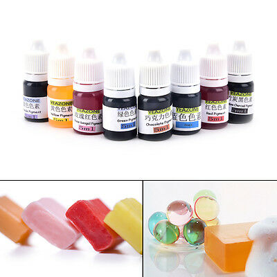 5ml Handmade Soap DYE Pigments Liquid Colorant Tool kit Materials Safe DIY SEAU
