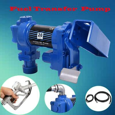 New 12V DC 20GPM Gasoline Fuel Transfer Pump Explosion-proof Set Gas Diesel