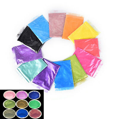 10g DIY Mineral Mica Powder Soap Dye Glittering Soap Colorant Pearl Powder SEAU
