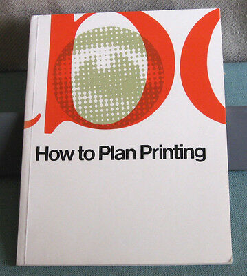 VTG How to Plan Printing 1987 S.D. Warren Promo Design Typography PB Excellent