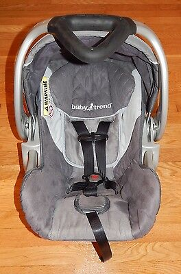 Baby Trend Flex-Loc Infant 5-30lbs Gray Unisex Boy Or Girl Car Seat With Base