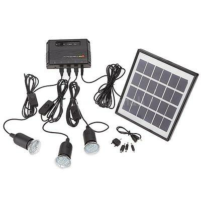 Outdoor 4W Solar Power Panel LED Light Lamp USB Charger Home System Kit Garden